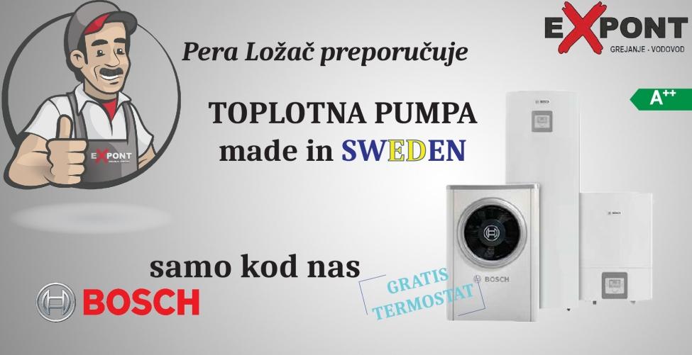 Bosch toplotna pumpa