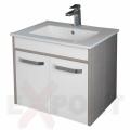 Ormar za kupatilo KARAMEL donji deo konzolni 61x50 cm i lavabo SLIM